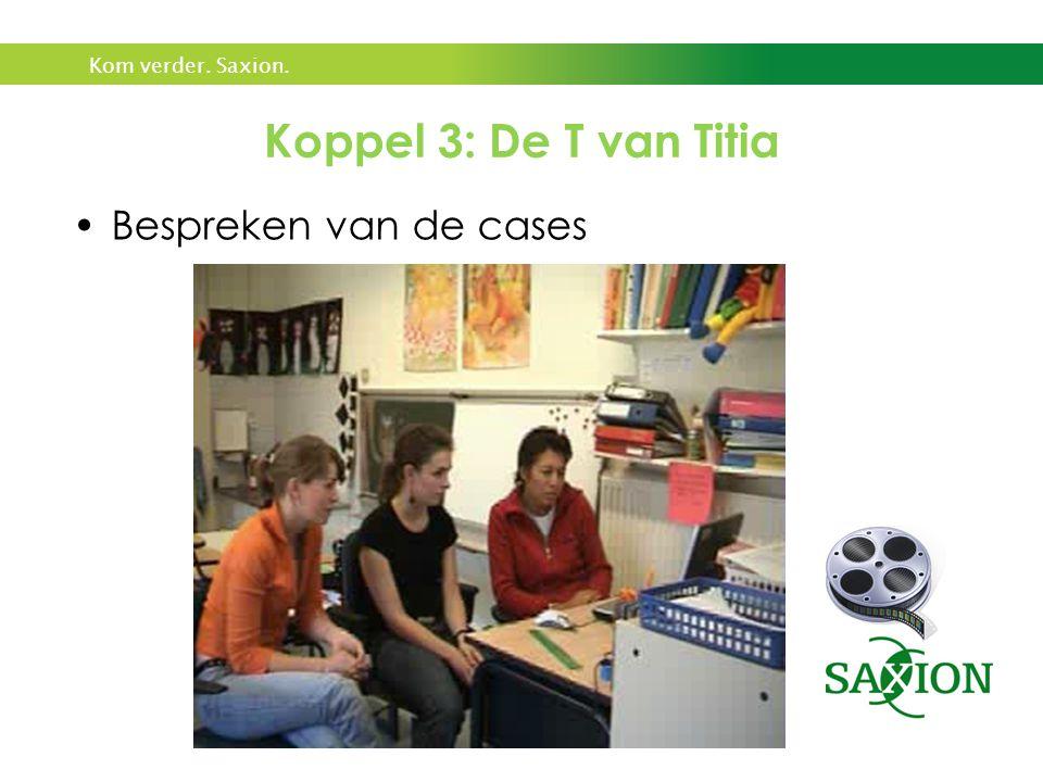 Bespreken van de cases Koppel 3: De T van Titia