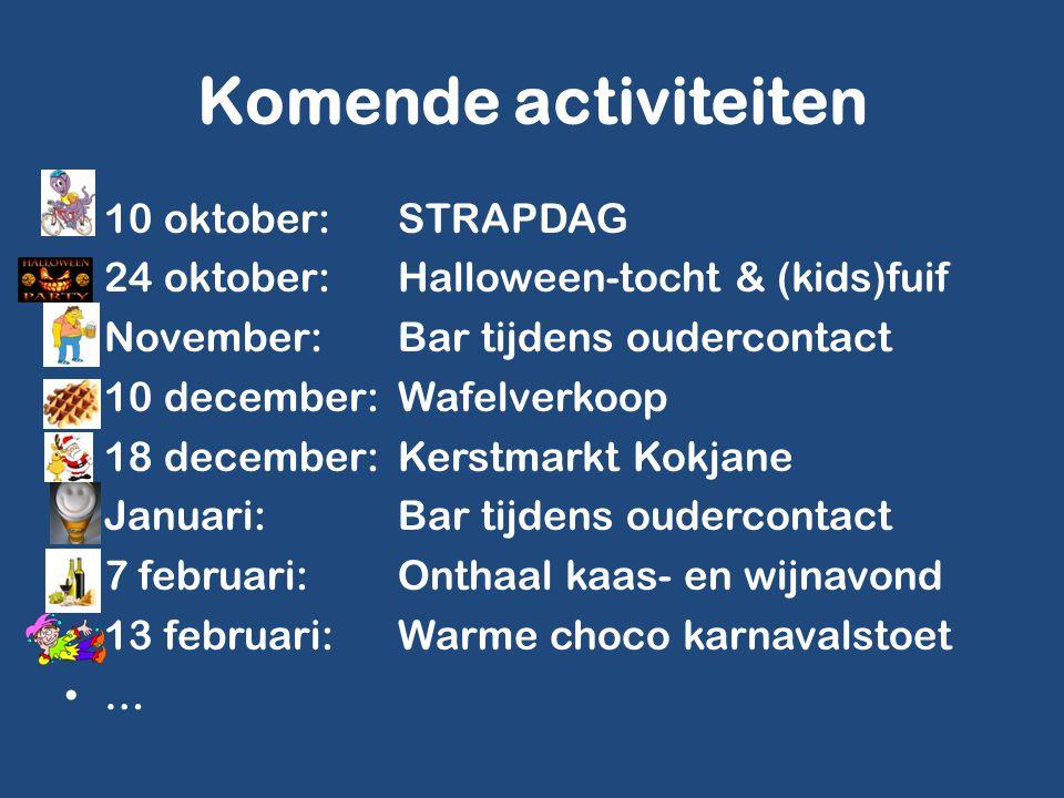 Komende activiteiten 10 oktober:STRAPDAG 24 oktober:Halloween-tocht & (kids)fuif November:Bar tijdens oudercontact 10 december:Wafelverkoop 18 decembe
