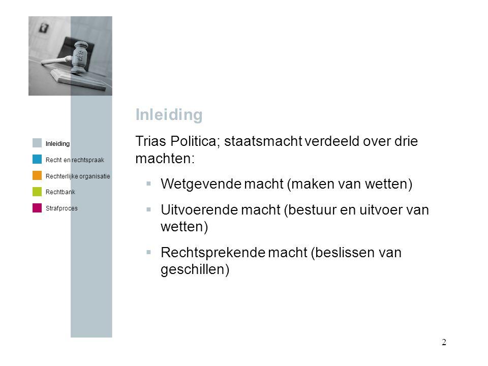 3 Inleiding Vrouwe Justitia  Blinddoek  Weegschaal  Zwaard Inleiding Recht en rechtspraak Rechterlijke organisatie Rechtbank Strafproces