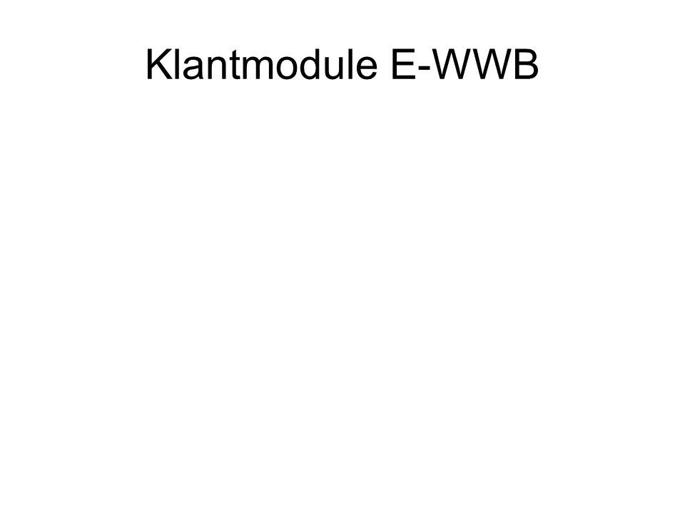 Klantmodule E-WWB