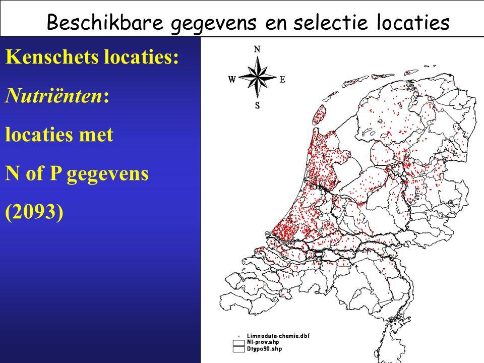Kenschets locaties: Nutriënten: locaties met N of P gegevens (2093)