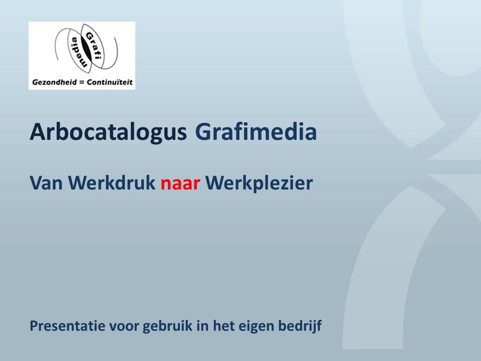 Arbocatalogus Grafimedia Van werkdruk naar werkplezier Presentatie voor gebruik in eigen bedrijf Arbocatalogus Grafimedia Van Werkdruk naar Werkplezie