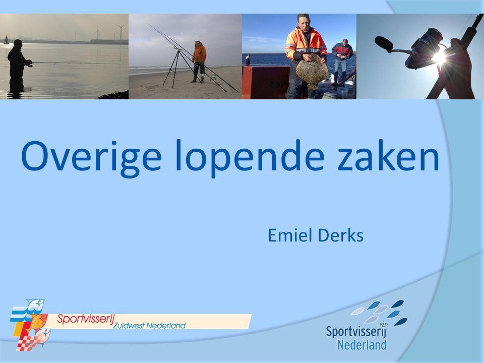 Overige lopende zaken Emiel Derks