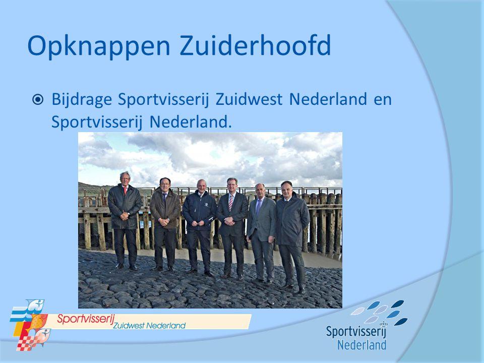 Opknappen Zuiderhoofd  Bijdrage Sportvisserij Zuidwest Nederland en Sportvisserij Nederland.