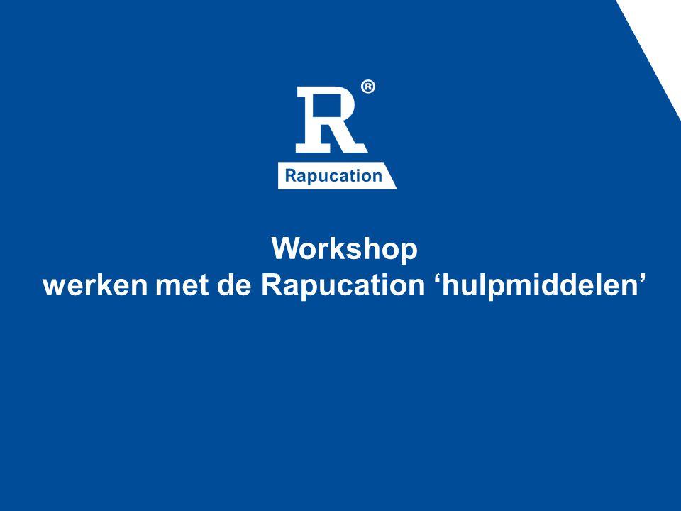 Workshop werken met de Rapucation 'hulpmiddelen'