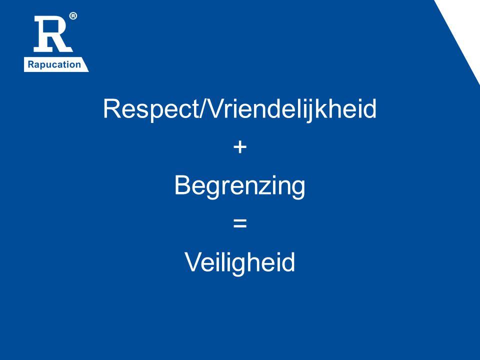 Respect/Vriendelijkheid + Begrenzing = Veiligheid