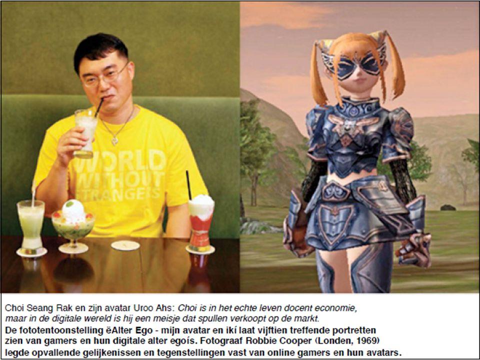Choi Seang Rak en zijn avatar Uroo Ahs: Choi is in het echte leven docent economie, maar in de digitale wereld is hij een meisje dat spullen verkoopt op de markt.