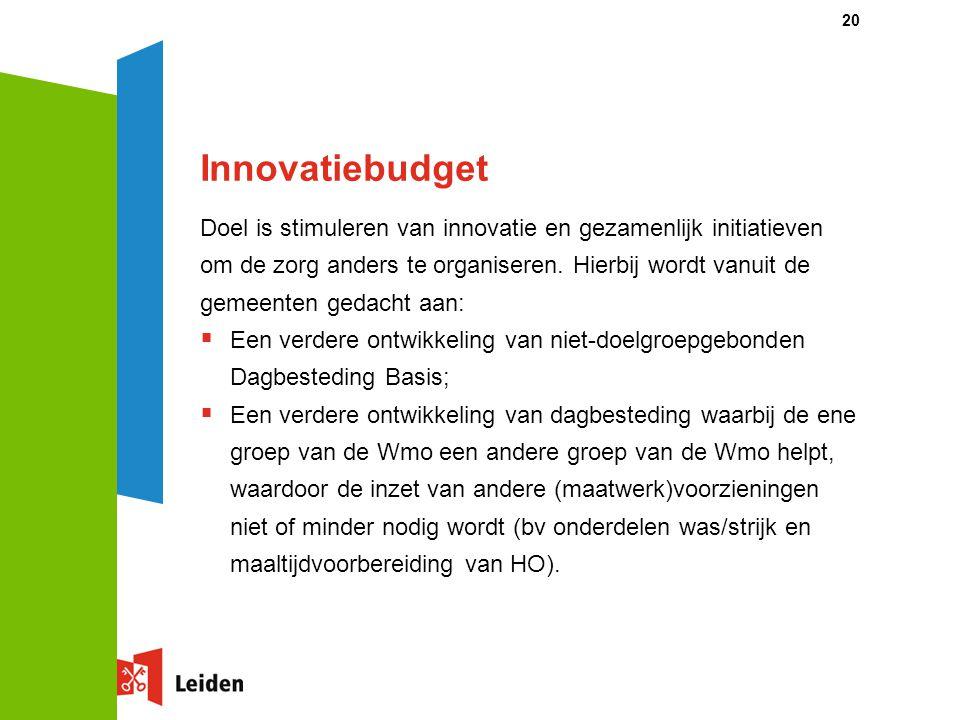 Doel is stimuleren van innovatie en gezamenlijk initiatieven om de zorg anders te organiseren.