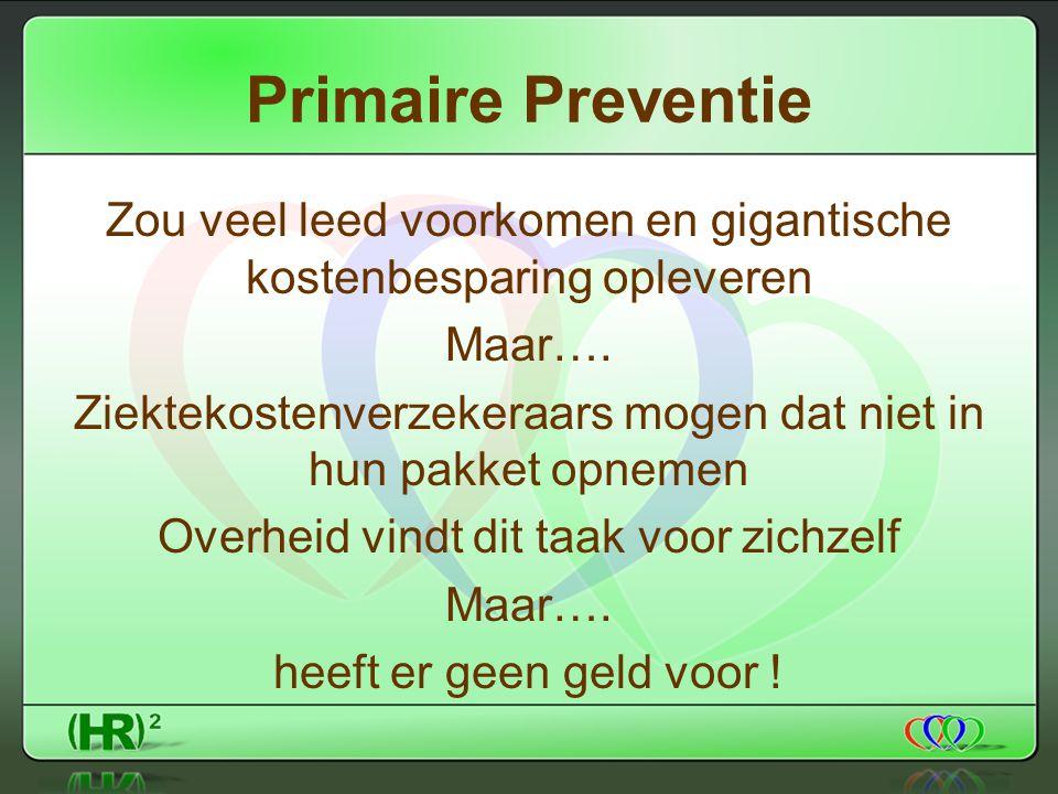 Primaire Preventie Zou veel leed voorkomen en gigantische kostenbesparing opleveren Maar….