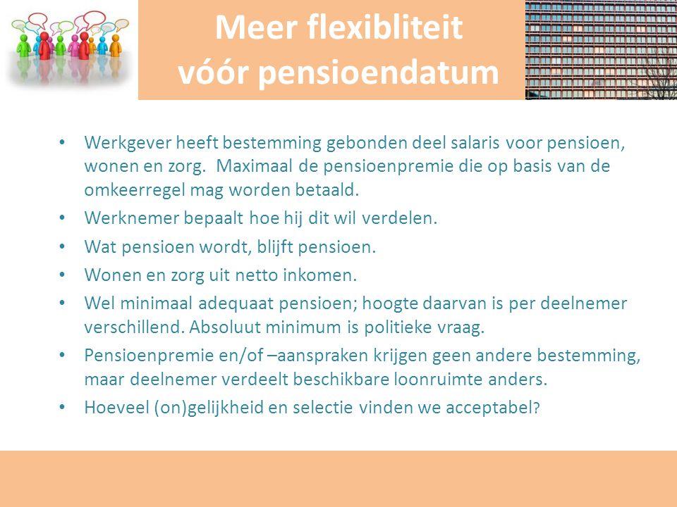 Werkgever heeft bestemming gebonden deel salaris voor pensioen, wonen en zorg. Maximaal de pensioenpremie die op basis van de omkeerregel mag worden b
