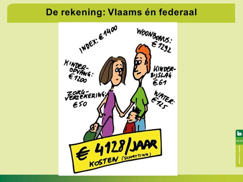 De rekening: Vlaams én federaal