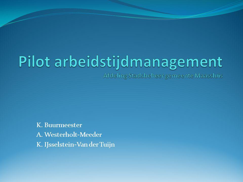 Inhoud Introductie gemeente Maassluis Aanleiding aanmelding pilot Uitgangspunten nieuwe lokale regeling Pilot arbeidstijdmanagement AWVN Conclusies