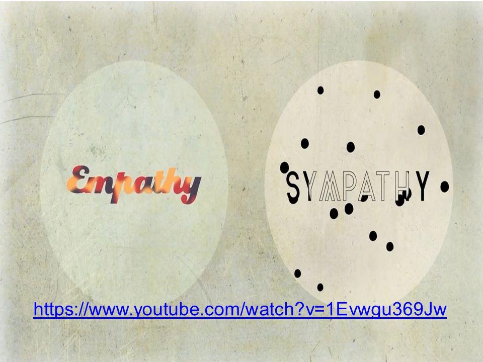 De kracht van empathie… https://www.youtube.com/watch?v=1Ev wgu369Jwhttps://www.youtube.com/watch?v=1Ev wgu369Jw