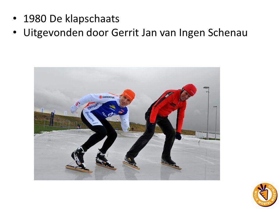 1980 De klapschaats Uitgevonden door Gerrit Jan van Ingen Schenau