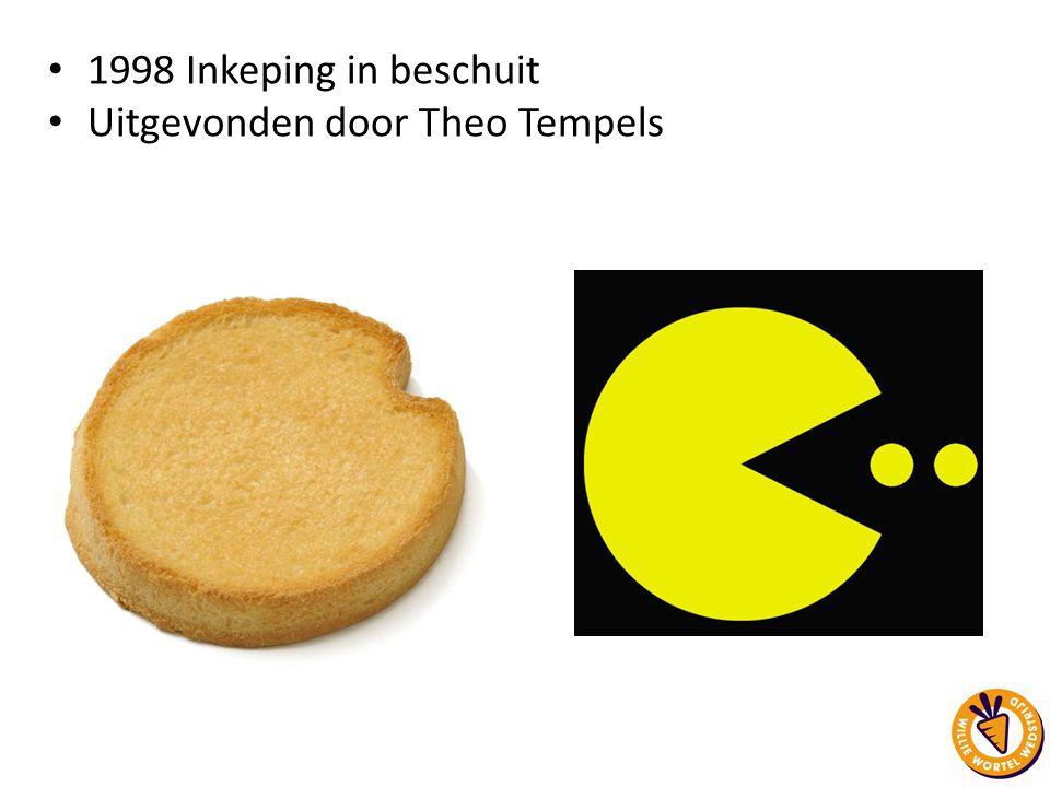 1998 Inkeping in beschuit Uitgevonden door Theo Tempels