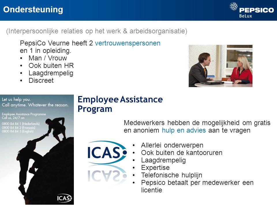 PepsiCo Veurne heeft 2 vertrouwenspersonen en 1 in opleiding.