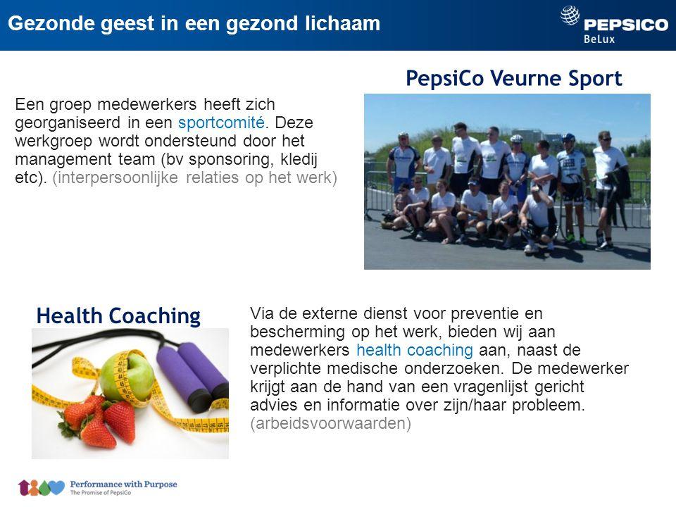 PepsiCo Veurne Sport Een groep medewerkers heeft zich georganiseerd in een sportcomité.