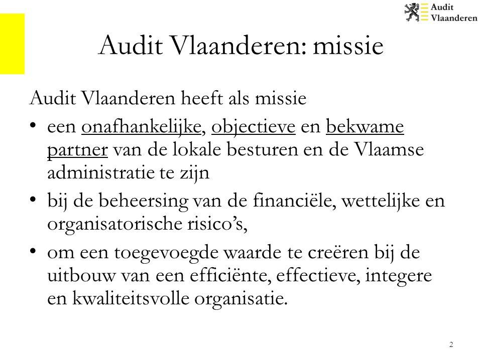 Audit Vlaanderen: aansturing 3