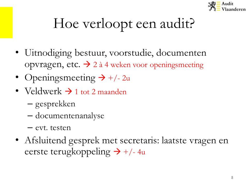 Hoe verloopt een audit.