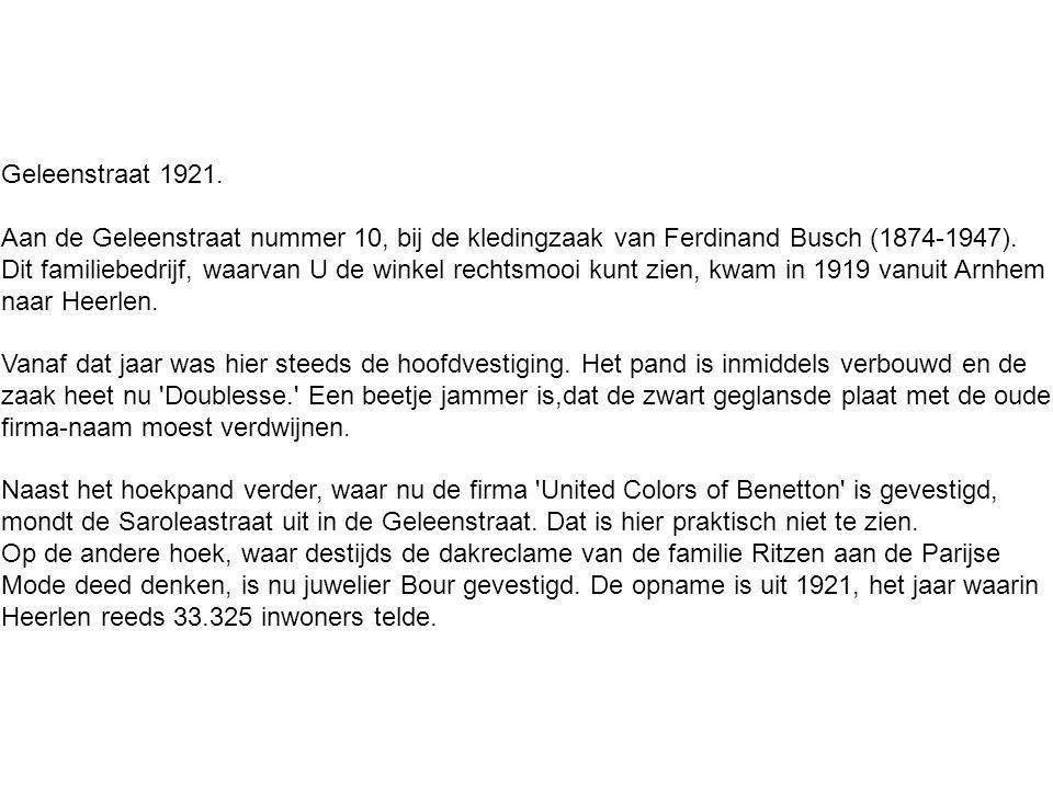 Geleenstraat 1921.