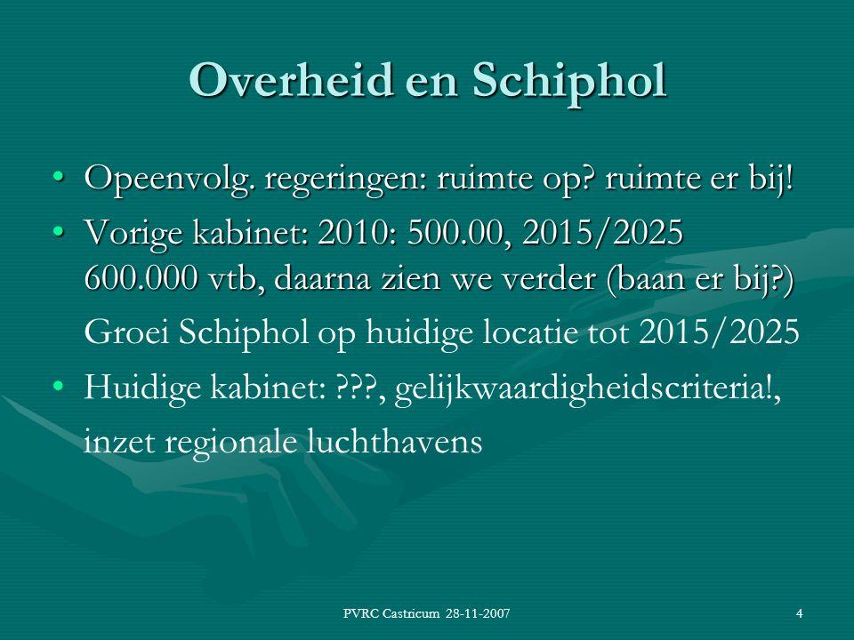 PVRC Castricum 28-11-20074 Overheid en Schiphol Opeenvolg.