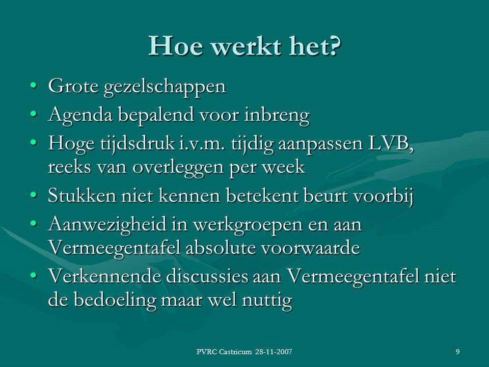 PVRC Castricum 28-11-20079 Hoe werkt het.