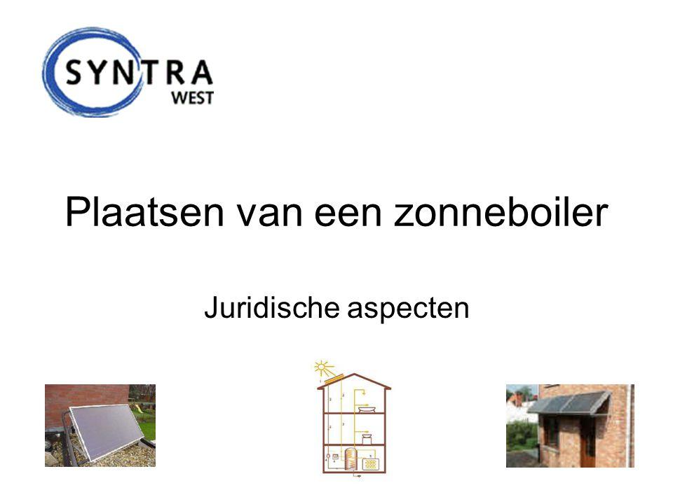 Maatschappelijk verantwoord ondernemen wordt méér en méér aangemoedigd van uit de verschillende overheden die ons land rijk is Tegemoetkomingen zijn er op alle mogelijke niveaus: –Supranationaal: Europees niveau –Federaal niveau: federale regering (België) –Regionaal niveau: Vlaamse regering (Vlaanderen) –Interregionaal niveau : Eandis –Provinciaal niveau: West-Vlaanderen –Gemeentelijk niveau: Kortrijk