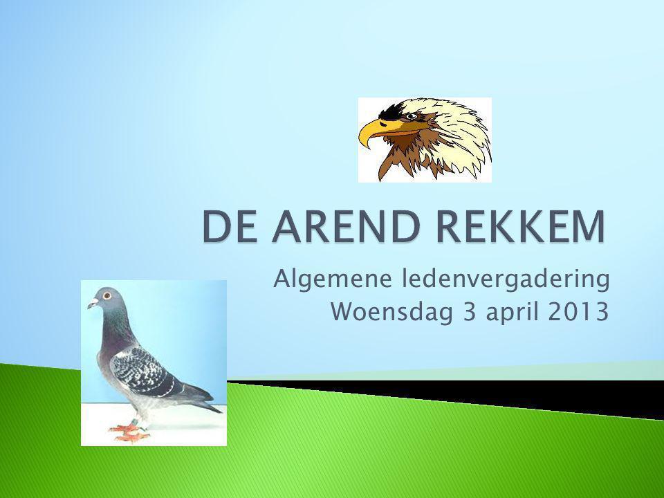 Algemene ledenvergadering Woensdag 3 april 2013