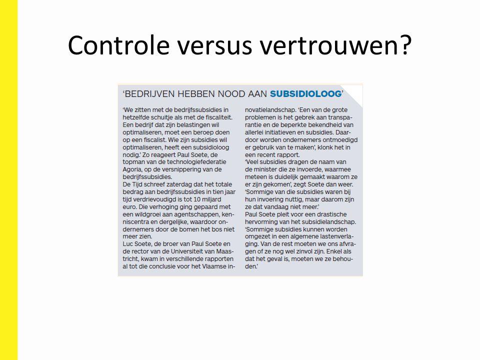 Controle versus vertrouwen?