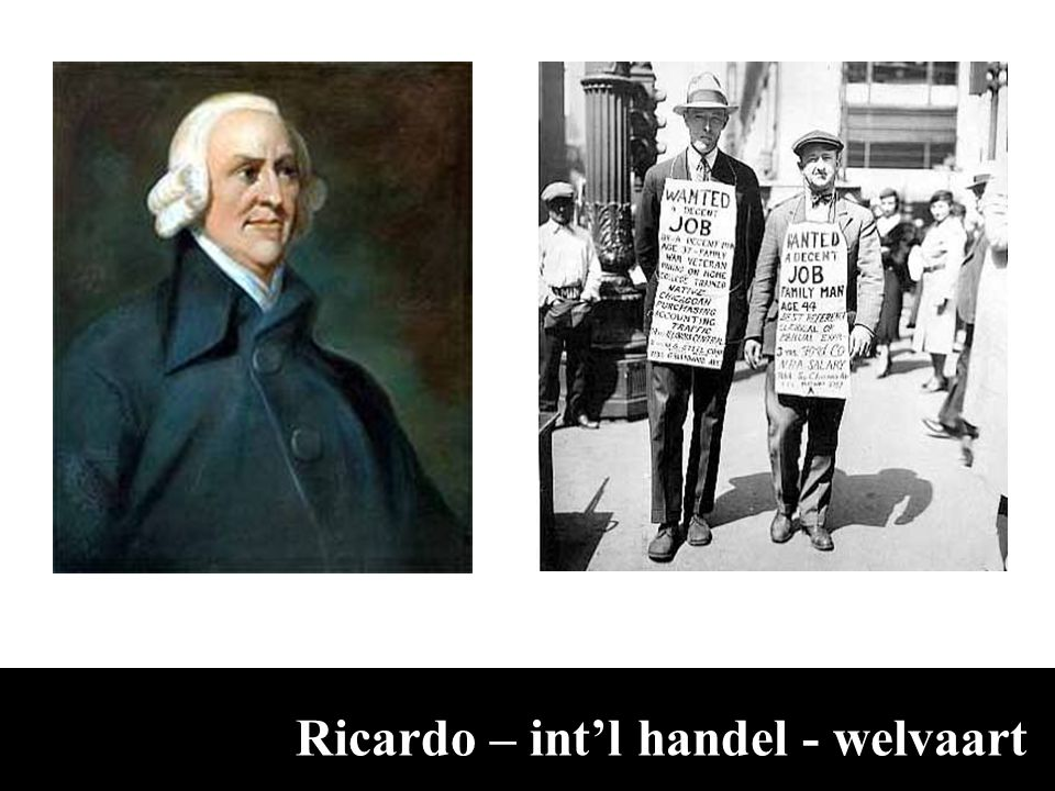 Ricardo – int'l handel - welvaart