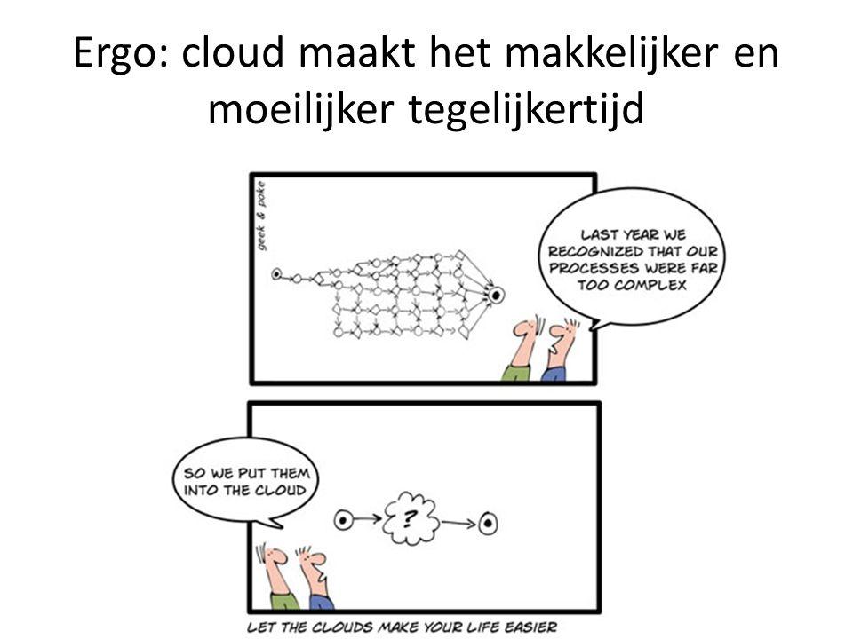 Ergo: cloud maakt het makkelijker en moeilijker tegelijkertijd