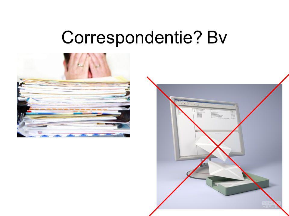 Correspondentie Bv