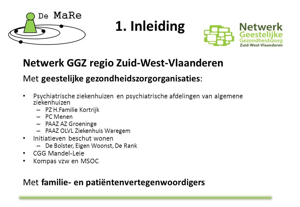 Netwerk GGZ regio Zuid-West-Vlaanderen Met geestelijke gezondheidszorgorganisaties: Psychiatrische ziekenhuizen en psychiatrische afdelingen van algem