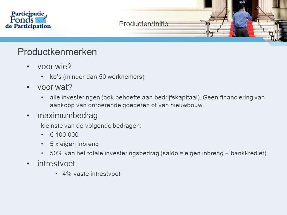 Productkenmerken voor wie. ko's (minder dan 50 werknemers) voor wat.