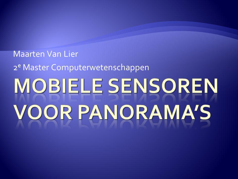 Maarten Van Lier 2 e Master Computerwetenschappen