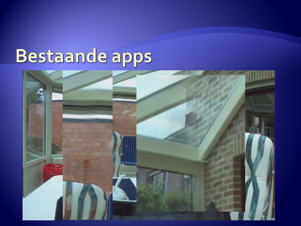  Eenvoudige algoritmen  Foto's naast elkaar plaatsen  Eenvoudige blending  Eenvoudig gebruik van sensoren  Geen filtering of extra processing  Wel snel resultaat