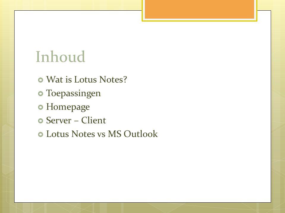 Wat is Lotus Notes.