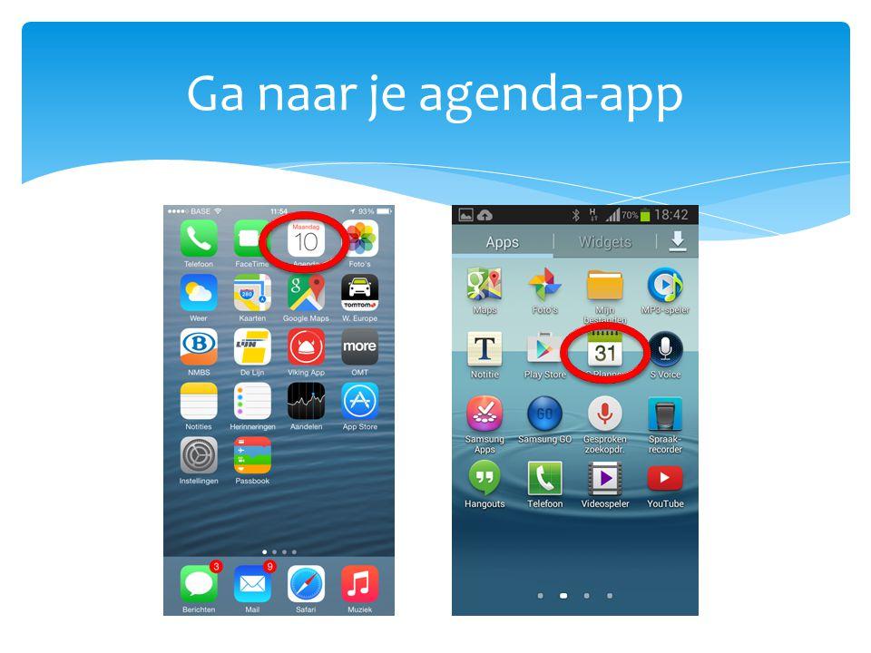 Ga naar je agenda-app