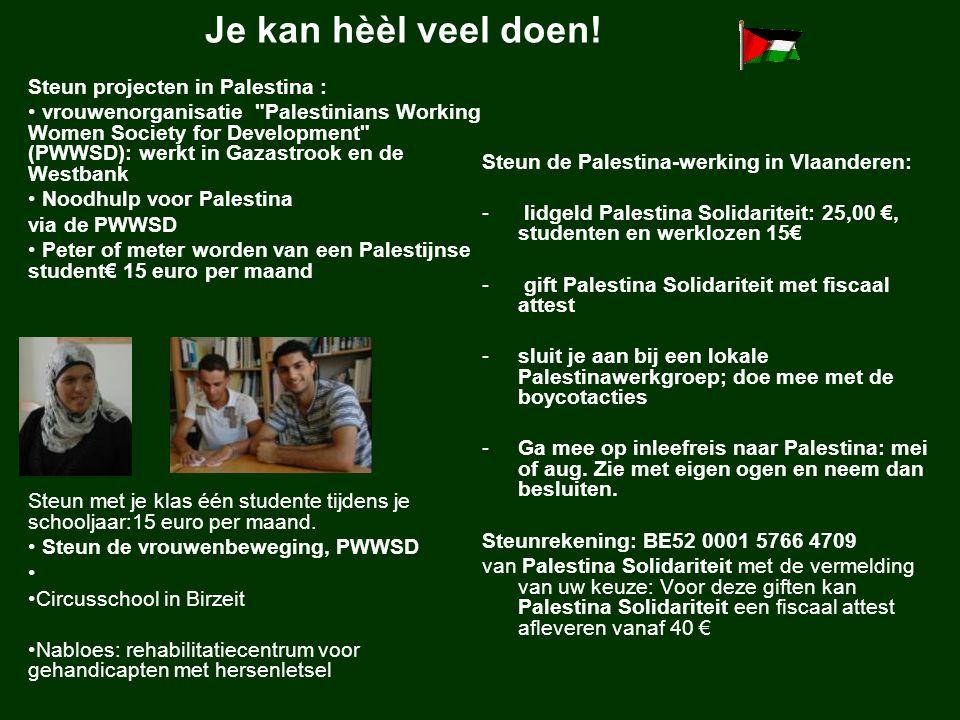 Je kan hèèl veel doen! Steun projecten in Palestina : vrouwenorganisatie