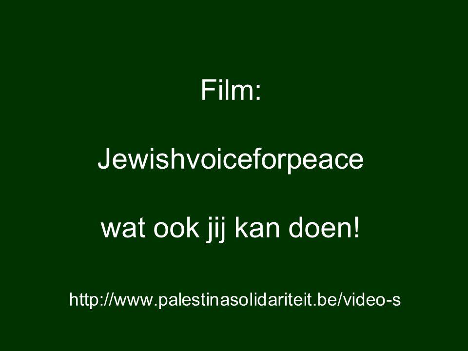 Film: Jewishvoiceforpeace wat ook jij kan doen! http://www.palestinasolidariteit.be/video-s