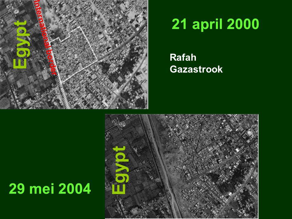 21 april 2000 29 mei 2004 Egypt International border Rafah Gazastrook