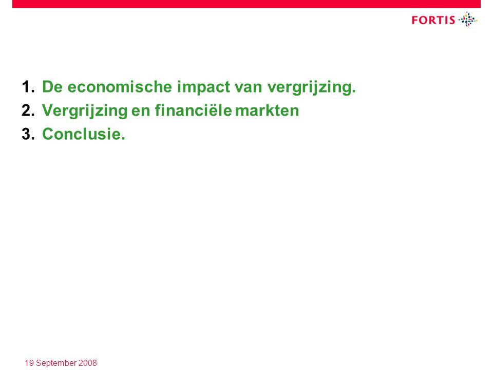19 September 2008 1.De economische impact van vergrijzing.