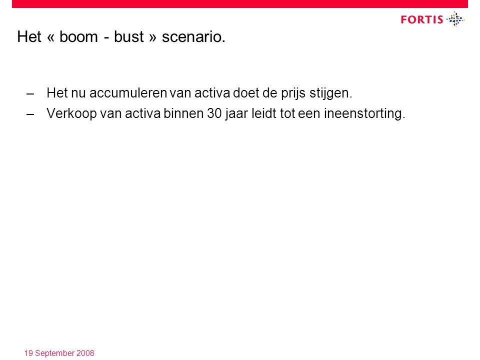 19 September 2008 Het « boom - bust » scenario.