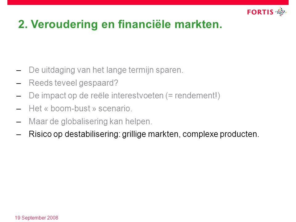 2. Veroudering en financiële markten. –De uitdaging van het lange termijn sparen.