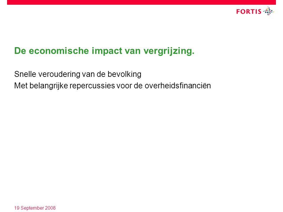 19 September 2008 De economische impact van vergrijzing.
