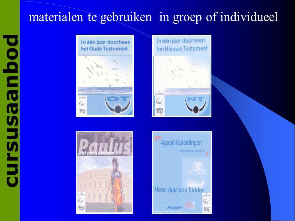 materialen te gebruiken in groep of individueel cursusaanbod
