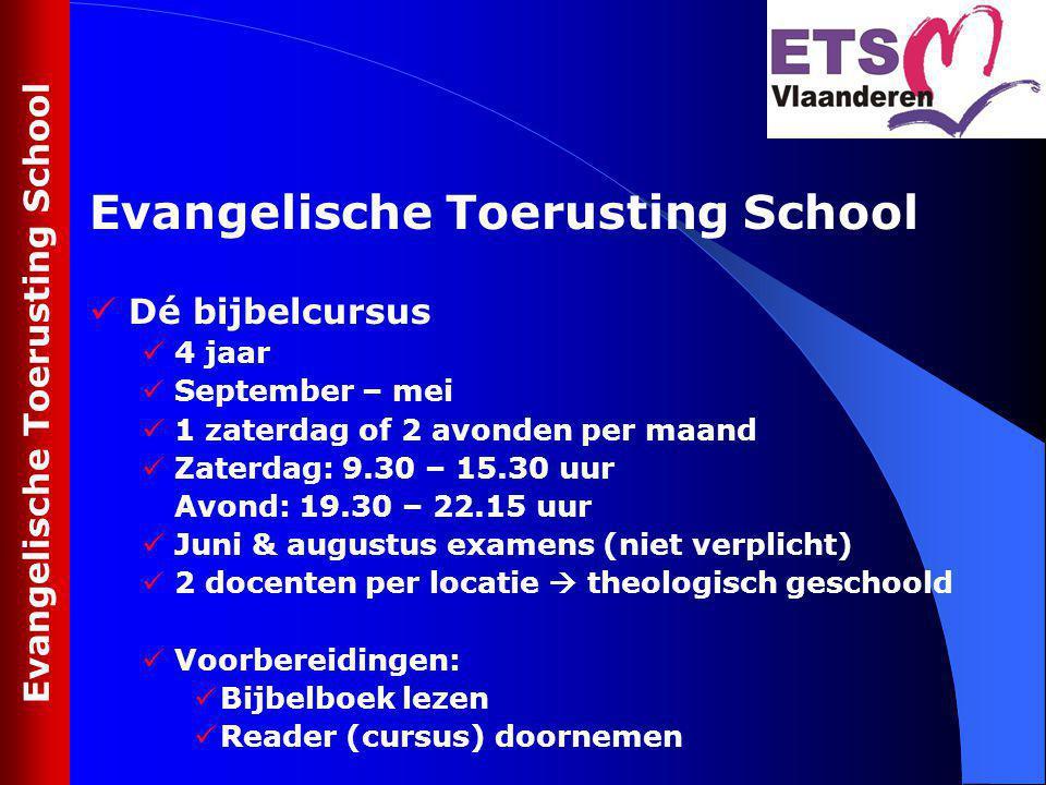 Dé bijbelcursus 4 jaar September – mei 1 zaterdag of 2 avonden per maand Zaterdag: 9.30 – 15.30 uur Avond: 19.30 – 22.15 uur Juni & augustus examens (
