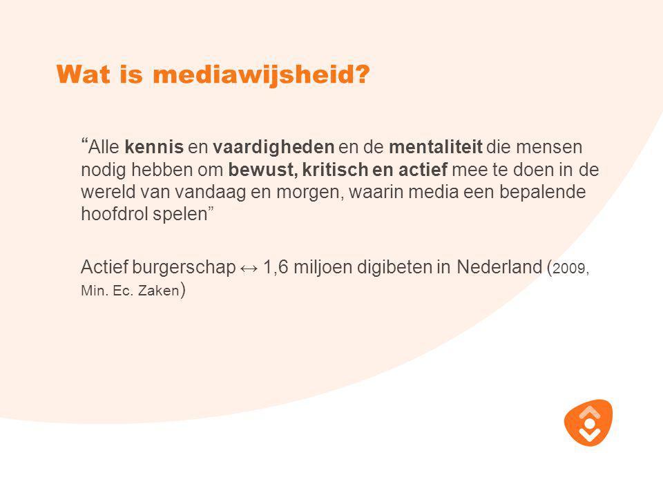 Wat is mediawijsheid.