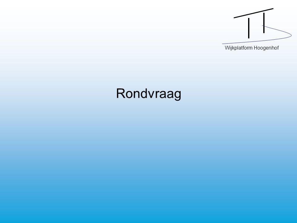 Wijkplatform Hoogenhof Rondvraag