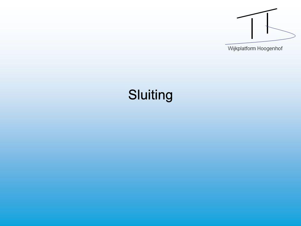 Wijkplatform Hoogenhof Sluiting